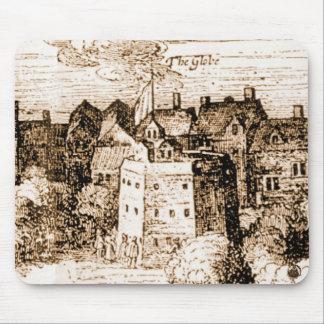 Claes Jansz Visscher Globe Theatre Engraving Mousepads