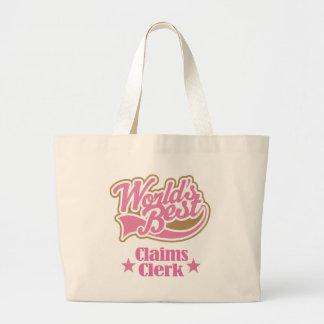 Claims Clerk Gift Idea Jumbo Tote Bag