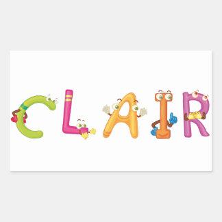 Clair Sticker