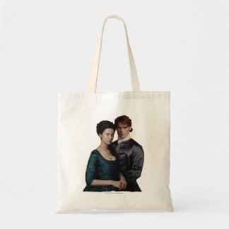 Claire And Jamie Damask Portrait Budget Tote Bag
