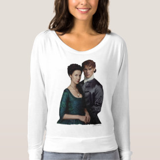 Claire And Jamie Damask Portrait Tee Shirts