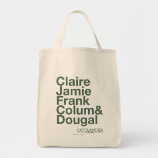 Claire, Jamie, Frank, Colum & Dougal Grocery Tote Bag
