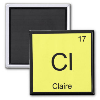 Claire Name Chemistry Element Periodic Table Square Magnet