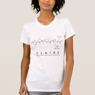 Claire peptide name shirt
