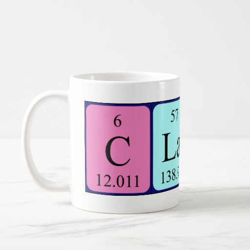 Claire periodic table name mug