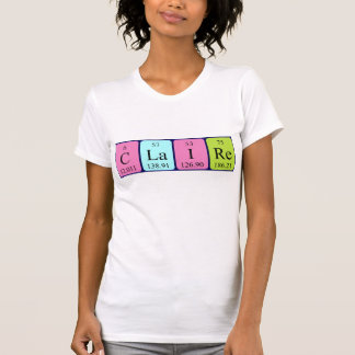Claire periodic table name shirt