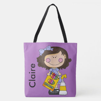 Claire's Crayon Personalized Tote