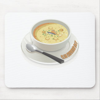 Clam Chowder Day - Appreciation Day Mouse Pad
