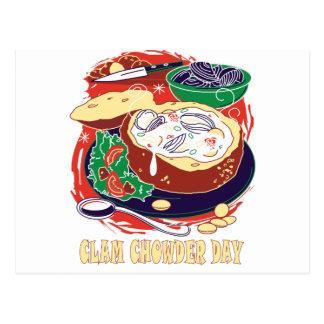 Clam Chowder Day - Appreciation Day Postcard