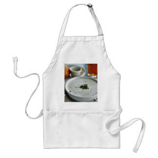 Clam Chowder With Beer And Sour Dough Bread Standard Apron