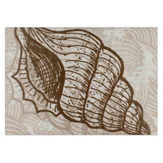Clam Shell Illustration Cutting Board