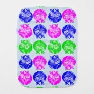 Clam Shells Burp Cloth