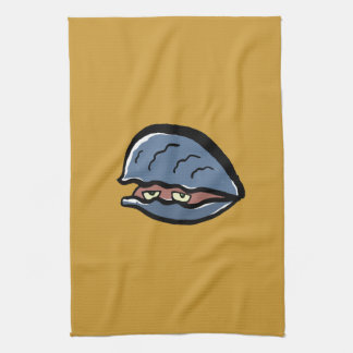 clam tea towel