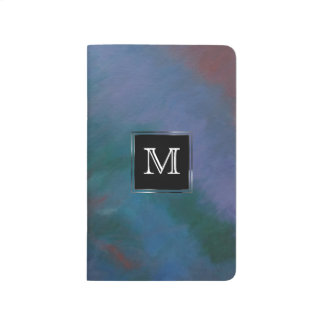 Clamorous Office   Monogram Blue Green Red Ombre Journal