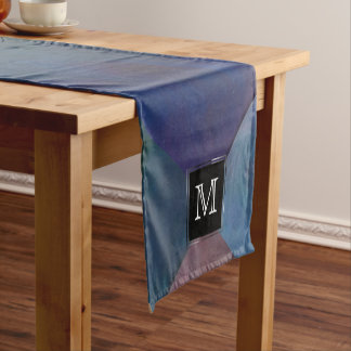 Clamorous Table | Monogram Blue Purple Green Red Short Table Runner