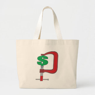 Clamp Down Dollar Canvas Bag