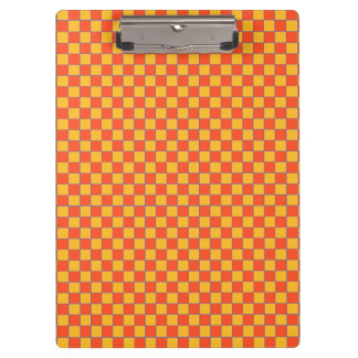 Clamping board Karo in orange and gold-yellow Clipboard