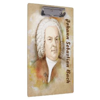 Clamping board with Johann Sebastian Bach Clipboards