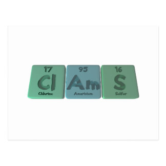Clams-Cl-Am-S-Chlorine-Americium-Sulfur.png Postcard