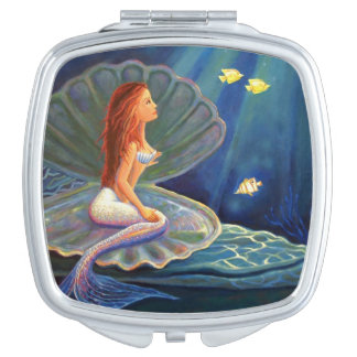 Clamshell Mermaid Compact Mirror