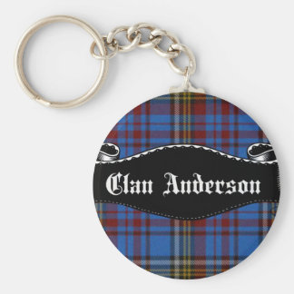 Clan Anderson Banner Basic Round Button Key Ring