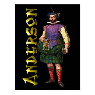 Clan Anderson Highland Dream Postcard