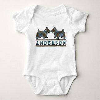 Clan Anderson Tartan Scottie Dogs Baby Bodysuit