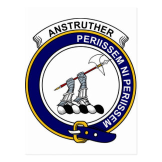 Clan Anstruther Badge Postcard