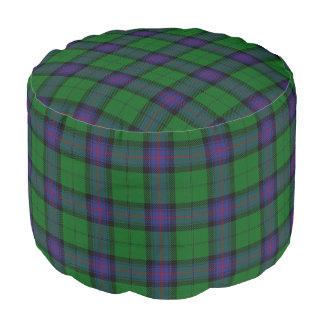 Clan Armstrong Scottish Style Blue Green Tartan Pouf