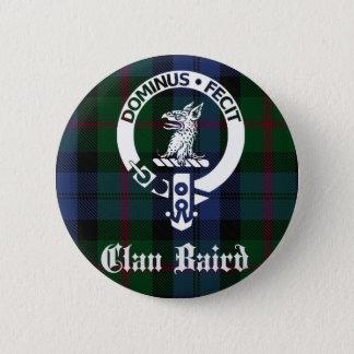 Clan Baird Crest Tartan 6 Cm Round Badge