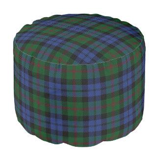 Clan Baird Scottish Style Blue Green Tartan Pouf