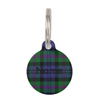 Clan Baird Tartan Pet Name Tag