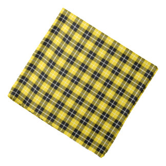 Clan Barclay Formal Tartan Yellow and Black Plaid Bandana