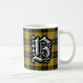 Clan Barclay Letter B Monogram Dress Tartan Coffee Mug