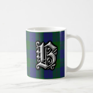Clan Barclay Letter B Monogram Hunting Tartan Coffee Mug