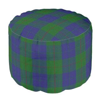Clan Barclay Scottish Style Blue Green Tartan Pouf