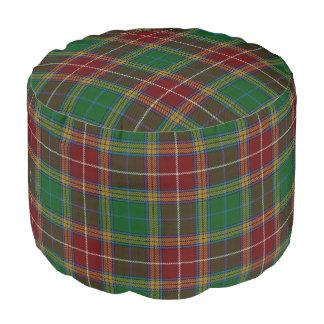 Clan Baxter Scottish Style Red Green Tartan Pouf