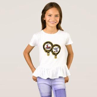 Clan Blair Crest Girl's Ruffle T-Shirt