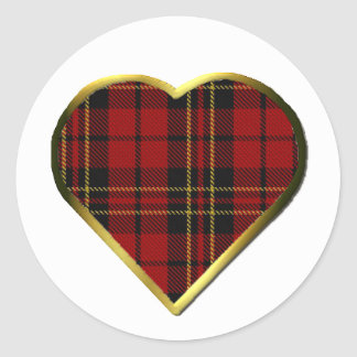Clan Brodie Heart Envelope Seal Round Sticker