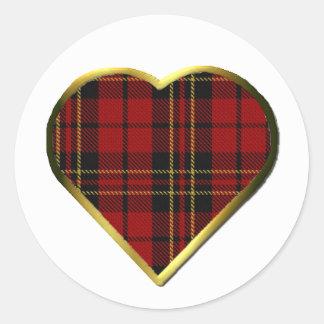 Clan Brodie Heart Envelope Seal Round Sticker