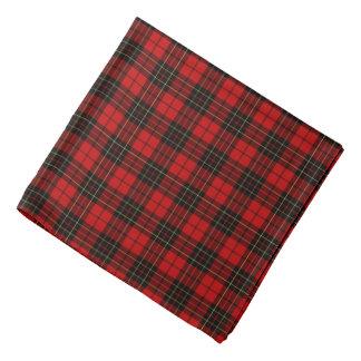 Clan Brodie Tartan Black and Red Plaid Bandana