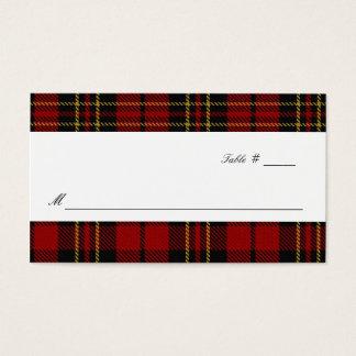 Clan Brodie Tartan Plaid Wedding Escort Place Card