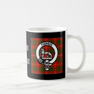 Clan Bruce Crest Tartan Basic White Mug