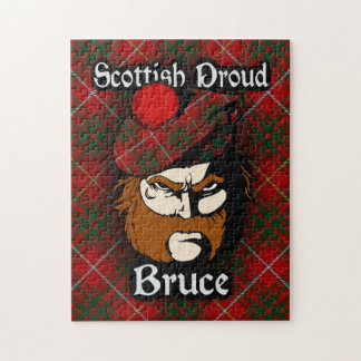 Clan Bruce Scottish Proud Tartan Jigsaw Puzzle