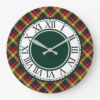 Clan Buchanan Tartan Border Large Clock