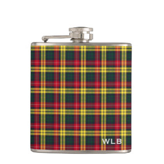 Clan Buchanan Tartan Monogram Hip Flask