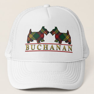 Clan Buchanan Tartan Scottie Dogs Trucker Hat