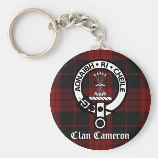 Clan Cameron Crest & Tartan Key Ring