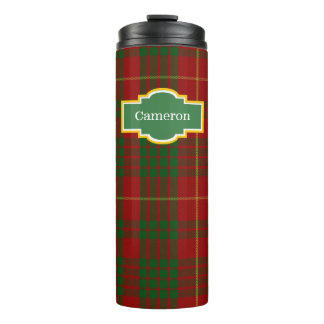 Clan Cameron Plaid Custom Thermal Tumbler