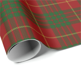 Clan Cameron Scottish Tartan Wrapping Paper